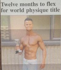 Michael-Schneider-Fitness-Model-Newspaper-article-12-months-to-flex-sml
